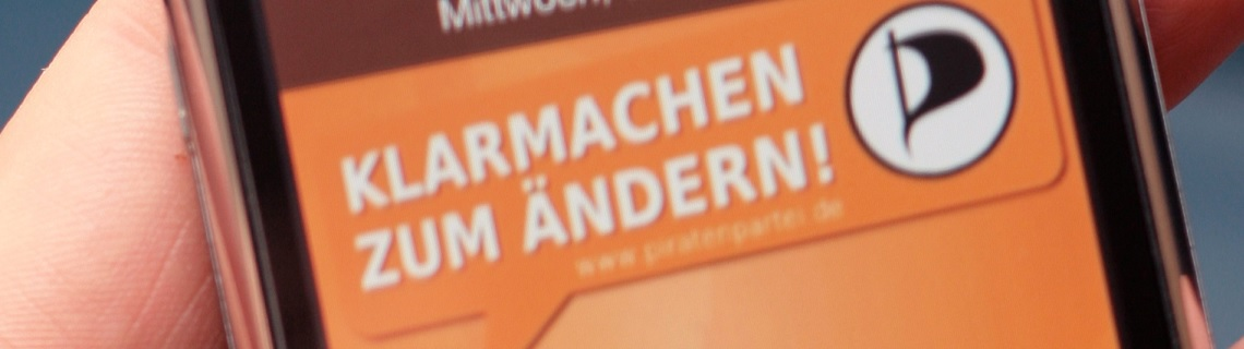 Handy Piraten Wahlslogan