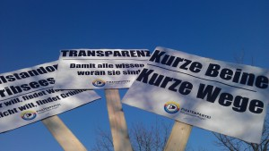Demonstration in Tribsees gegen Schulschließung
